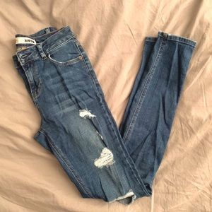 Sale🔥TopShop Jamie Dark Blue Ripped Skinny Jeans